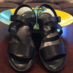 Black Madden Girl sandals size 7